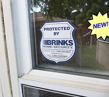 DIE CUT BRINKS ADT HOME SECURITY SYSTEM ALARM WINDOW DECAL WARNING STICKER SIGN