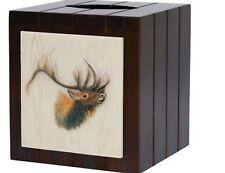 New Lodge Cabin Bacova Majestic Portrait Elk Tissue Box Cover