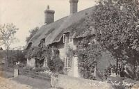 Hants  - WEST MEON, School Hill, Thatched Cottage - Real Photo