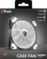Ventola PER PC illuminata LED GXT 762W bianca silenziosa per case DA 120mm TRUST