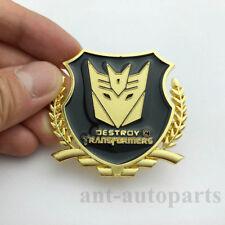 Metal Transformer Autobot Deception Car Trunk Emblem Decal Sticker Window Badges