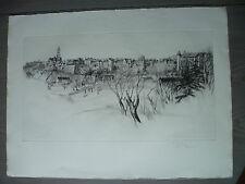 Litho originale justifiée René William THOMAS flan de vieille ville signé