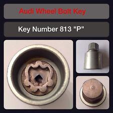 "Genuine Audi Locking Wheel Bolt / Nut Key 813 ""P"" 17 Hex"