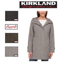 NEW! SALE! Women's Kirkland Signature Trench Rain Coat Hood VARIETY SZ/CLR - F53