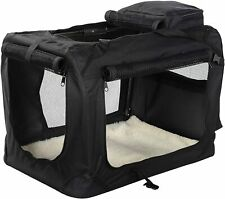 Lightweight Fabric Pet Carrier Crate with Fleece Mat and Food Bag *USED*