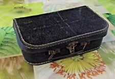 Ancienne Valise Coffret Boîte coffre sac Carton 1940 Vintage 25 x 17 x 7 cm