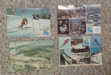 Postcard lot oF 4 1980 LAKE PLACID WINTER OLYMPIC GAMES Olympics Skiing Village