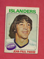 1975-76 OPC  # 127 NY ISLANDERS  JP PARISE   CARD