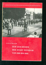 Zur Geschichte der Stadt POTSDAM von 1918-1933