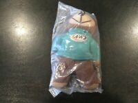 A&W Root Beer Rooty Plush Beanie Toy Bear 1998 Sealed NIP - SAVE BIG FREE SHIP!