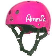 2 x casco personalizzato, CICLISMO Nome Vinile Decalcomanie, Adesivi, Ragazze, BMX Bianco