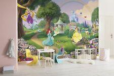 Papel pintado para Tamaño Grande Pared en dormitorio niña princesa Jardín Disney