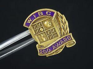 "VINTAGE ENAMEL WOMEN INTERNATIONAL BOWLING CONGRESS ""WIBC"" 200 AWARD LAPEL PIN"
