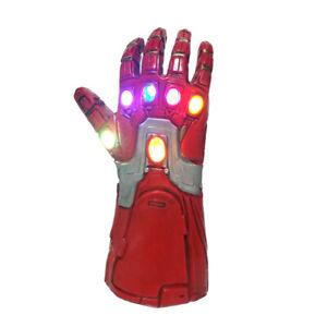 Kid Iron Man Gloves Gauntlet Endgame Tony Stark Infinity LED Cosplay