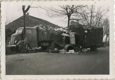 PHOTO ANCIENNE - VINTAGE SNAPSHOT - CAMION ACCIDENT TRANSPORT - TRUCK CRASH 6