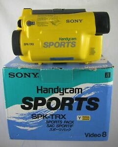 Sony SPK-TRX Yellow Sports Pack Waterproof Camera Case Video 8 Hi8 Handycam
