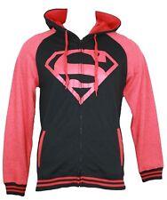 Superman Superboy Mens Zip Up Hoodie Sweatshirt -  Varisty Style Image