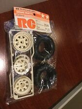ORIGINAL VINTAGE TAMIYA FORD RANGER 5156 TIRE WITH WHEEL 1 FRONT 1 REAR NEW NOS