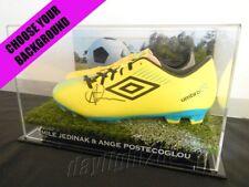 ✺Signed✺ MILE JEDINAK & ANGE POSTECOGLOU Boots PROOF COA Socceroos 2018 Jersey