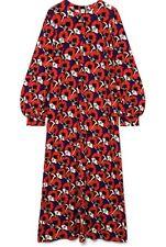 MARNI Red Floral Print Long Sleeved Maxi Dress. Beautiful! IT 44/UK 12. RRP 1080