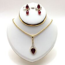 Indian Asian Jewellery Bridal Bollywood Party Ethnic Wear Pendant Necklace Set