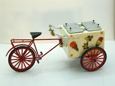 Great Ice Cream Cart w/ Red Metal Bicycle (Signed) Artisan Dollhouse Miniature