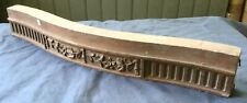 """Antique Furniture Fragment Possibly French Carved Wood 22x3"""""""