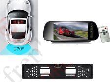 Kit retromarcia MONITOR SPECCHIETTO telecamera portatarga wireless senza fili