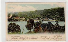 GENERAL VIEW CEYLON-KANDY: Ceylon postcard with hotel cachet (C27575)