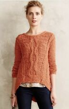 Moth Anthropologie Portland Cable Knit Sweater ~ High-low hem ~ XS