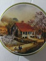 """Butter Roasted pecans the swiss colony empty 6"""" tin"""