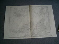 Vintage Admiralty Chart 555 NORWAY - DOLM SUND to LYNGVAER 1916 edn