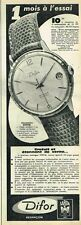 F- Publicité Advertising 1961 La Montre Difor