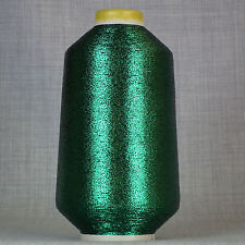 DARK GREEN LUREX METALLIC GLITTER YARN HUGE 700g CONE MACHINE KNITTING SPARKLE