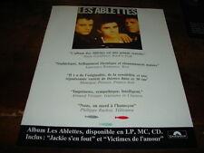 LES ABLETTES - PUBLICITE JACKIE S'EN FOUT !!!!!!!!!!!