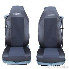 2/PAIR BLACK FABRIC TAILORED SEAT COVERS FOR VOLVO TRUCKS FH12 FH 16 FL FM FH16