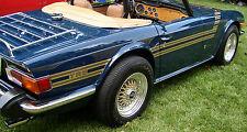 New 1969-1976 Triumph TR6 OEM Die Cut Side Stripe Kit