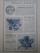 1925 PUB LORRAINE DIETRICH ARGENTEUIL MOTEUR AVIATION AERO ENGINE ORIGINAL AD