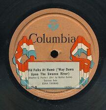 15pc78-Classical African American soprano-Columbia 185-D-Edna Thomas--RARE