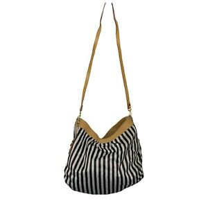 Henri Bendel iconic stripe hobo handbag XL