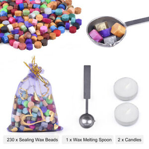 230Pcs Colorful Sealing Wax Beads For Seal Stamp Envelope Wedding Invitation Kit