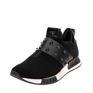 RRP €120 CULT Mesh Sneakers Size 45 UK 10.5 US 11 Spike Studs Strap Patent Trim