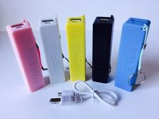 Portable Battery USB Power Bank Charger For iPhone Mobile Phone 2600mAh - White