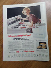 1951 Westinghouse Electric Range Ad Betty Furness Television Star