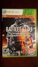 Battlefield 3 (Microsoft Xbox 360, 2011) Premium Edition