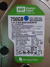 Western Digital WD 7500 AARS - 003bb1 | hbnnht 2cbb | 02 DEC 2010 | 750gb HARD DISK