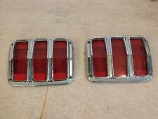 Vintage 1965 Mustang Tail Lights Lens & Bezels