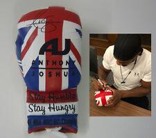 Anthony Joshua SIGNED AUTOGRAPH Union Jack Boxing Glove AFTAL UACC
