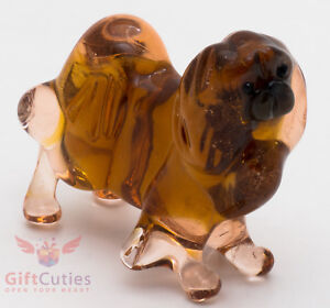 Art Blown Glass Figurine of the Pekingese dog