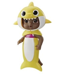 Baby Alive Shark Black Hair Doll W/ Tail and Hood Waterplay Toy Brand New
